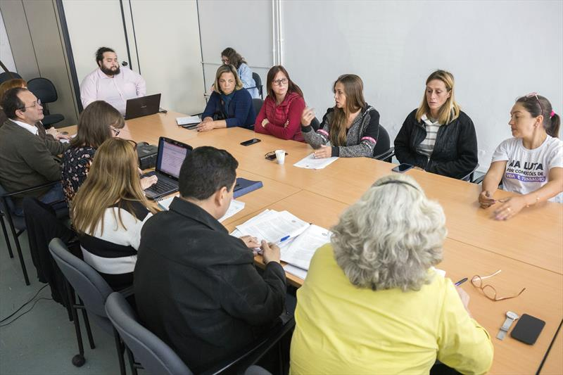 Reunião RH, Sismuc e educação. Curitiba, 18/06/2019.  Foto: Valdecir Galor/SMCS