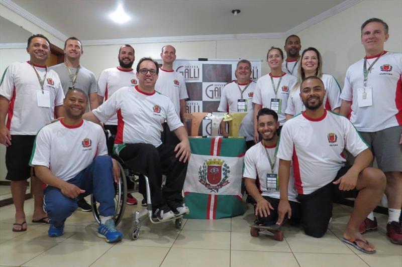 Pela oitava vez seguida, Curitiba terminou como campeã-geral dos Jogos Abertos Paradesportivos do Paraná (Parajaps). Foto: Divulgação