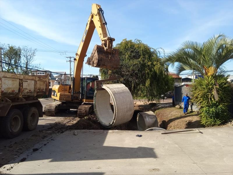 A obra da prefeitura na Rua Professor José Maurício Higgins nas proximidades da Rua Carmelitas. Foto: Divulgação