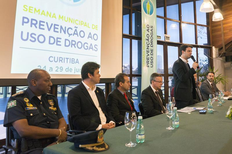 Vice Prefeito, Eduardo Pimentel, durante abertura da Semana Municipal de Prevenção ao Uso de Drogas. Curitiba, 24/06/2019. Foto: Valdecir Galor/SMCS