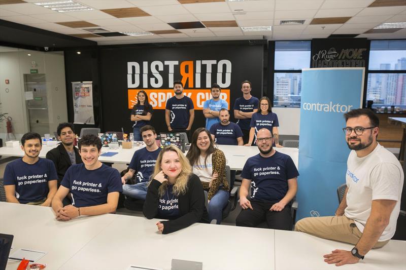 Equipe da Contraktor, empresa do Vale do Pinhão. Curitiba, 26/06/2019. Foto: Valdecir Galor/SMCS