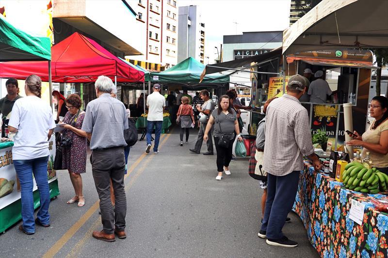 Feira das Cooperativas junto à Praça Osório. Curitiba, 15/03/2019. Foto : Lucilia Guimarães/SMCS