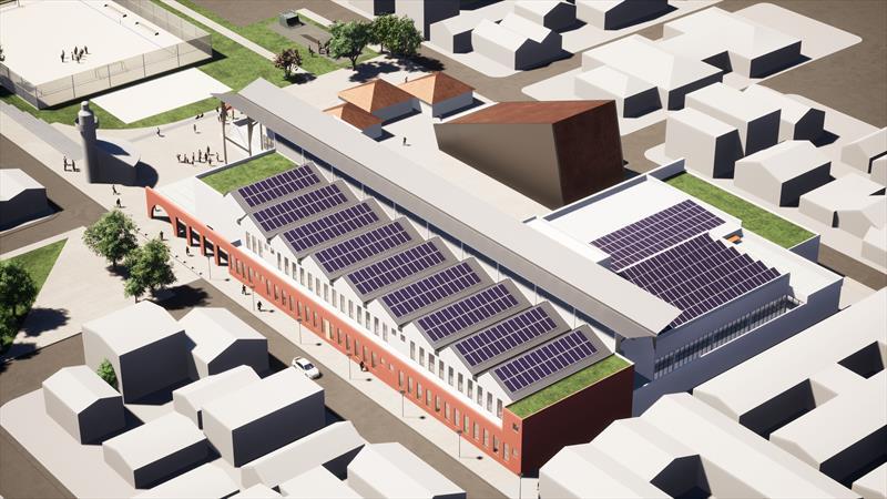 Regional CIC ganhará Rua da Cidadania com sustentabilidade energética. Ilustração: IPPUC