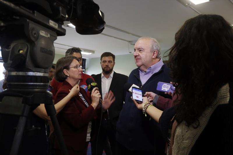 Prefeito Rafael Greca recebe imprensa no Salão Brasil. Curitiba,13/08/2019. Foto: Lucilia Guimarães/SMCS