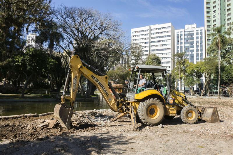 Obras de revitalização do Passeio Público. Curitiba, 24/07/2019 Foto: Valdecir Galor/SMCS