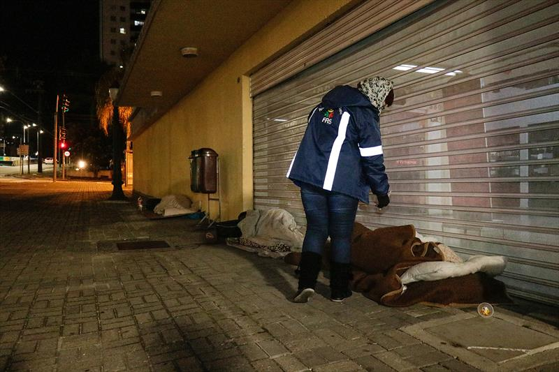 FAS reforça resgate de pessoas em situação de rua por causa do frio intenso. Foto: Ricardo Marajó/FAS
