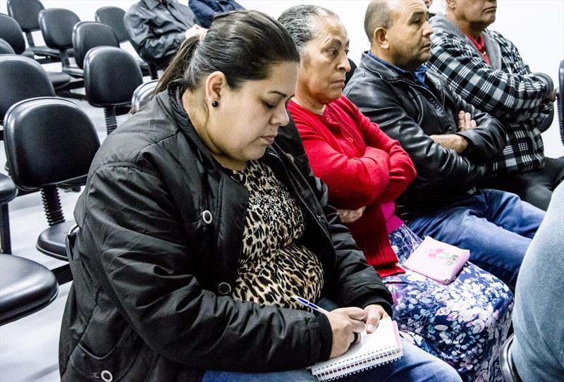 Palestra sobre doenças crônicas e de alimentação do programa de prevenção para beneficiários do ICS.  - Na imagem, Sindi Angélica Abady. Curitiba, 27/08/2019.  Foto: Levy Ferreira/SMCS