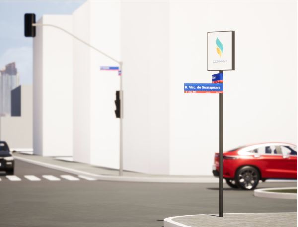 Placas de rua terão estrutura para tecnologia.