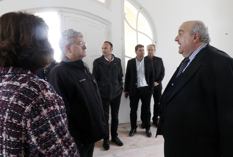 Prefeito Rafael Greca visita obra do Belvedere. Curitiba. 04/09/2019. Foto: Lucilia Guimarães/SMCS