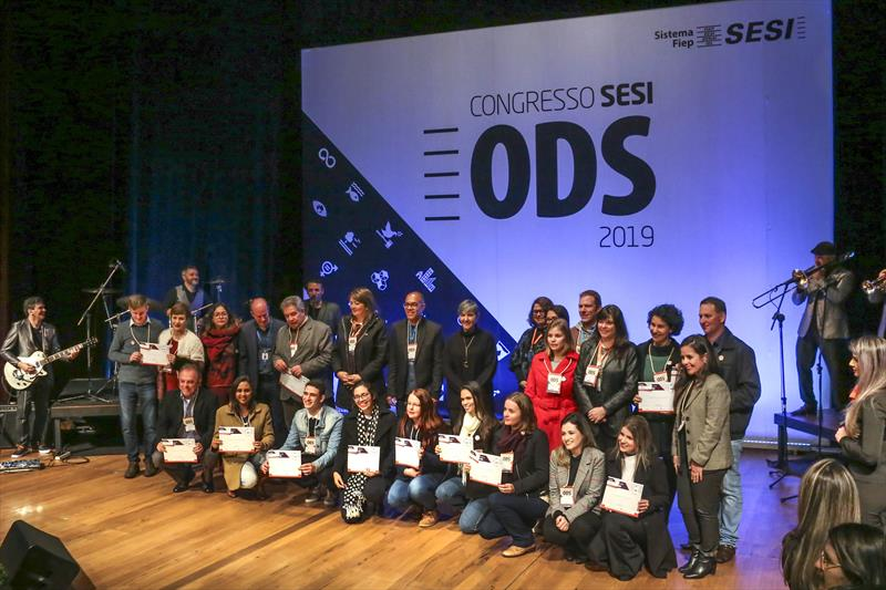 Entrega do prêmio ODS e selo Sesi na FIEP. Curitiba, 05/09/2019. Foto: Luiz Costa /SMCS.