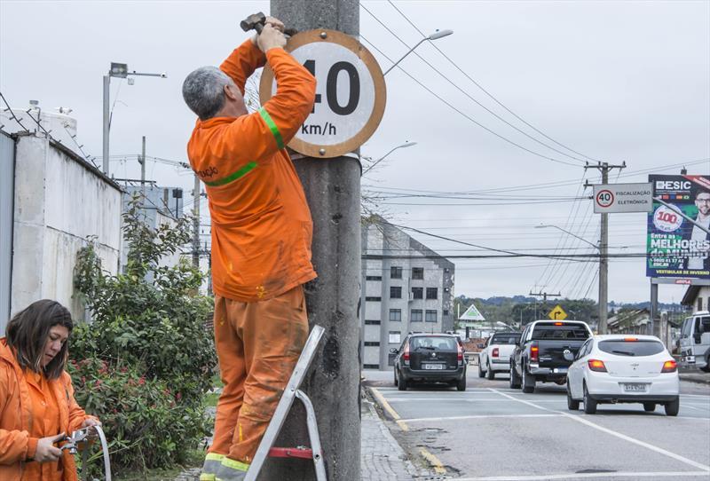 Servidores da sinalização de trânsito. Curitiba, 04/09/2019. Foto: Levy Ferreira/SMCS