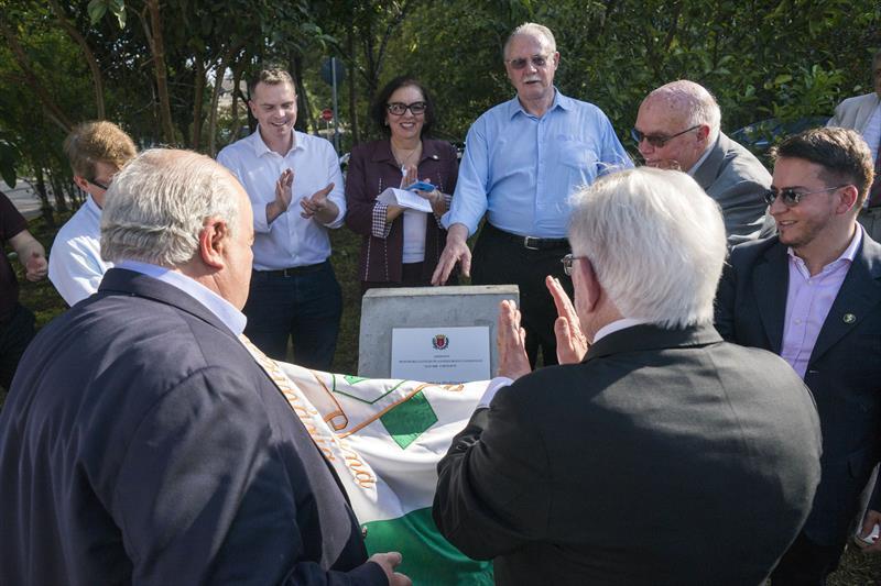 Prefeito Rafael Greca participa da inauguraçao do jardinete Clotilde de Lourdes Branco Germiniani,  no Bairro Bacacheri. Curitiba, 09/09/2019. Foto: Valdecir Galor/SMCS