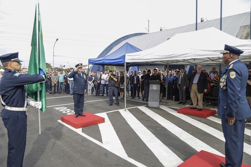 Prefeito Rafael Greca participa da solenidade de troca de comando da Guarda Municipal. Curitiba, 11/09/2019. Foto: Pedro Ribas/SMCS