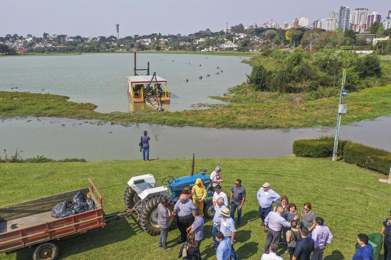 Secretaria do Meio Ambiente da Prefeitura realiza obras de construção da PCH Nicolau Kluppel na barragem do lago do Parque Barigui. - Curitiba, 17/09/2019 - Foto: Daniel Castellano / SMCS