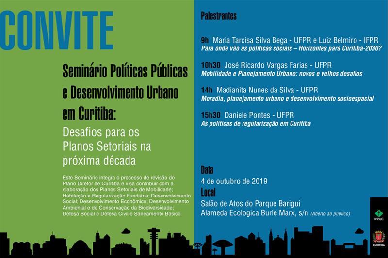 Seminário debate os planos setoriais da cidade.