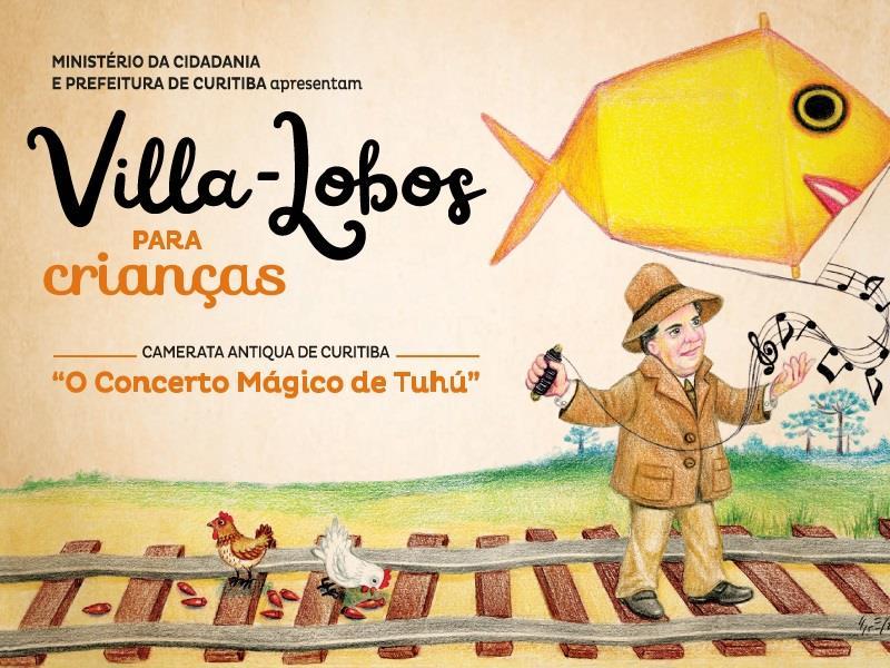 Na semana das crianças Villa-Lobos une dança e teatro ao som da Camerata Antiqua.