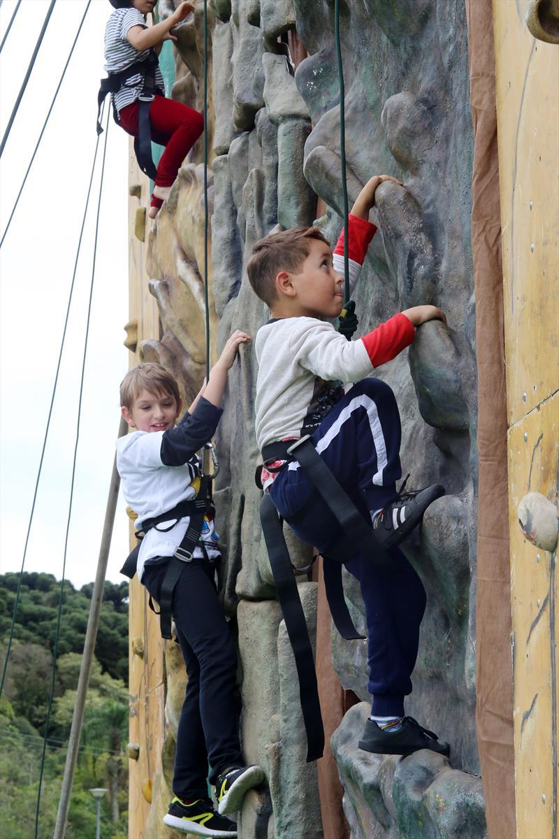 Festa do Dia das Crianças terá muro de escalada e minipedalinho no Barigui. Foto: Cesar Brustolin/SMCS