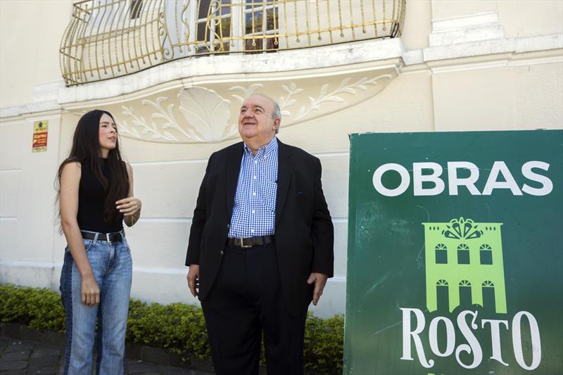 Prefeito Rafael Greca visita obras Rosto da Cidade. Curitiba, 10/10/2019. Foto: Valdecir Galor/SMCS