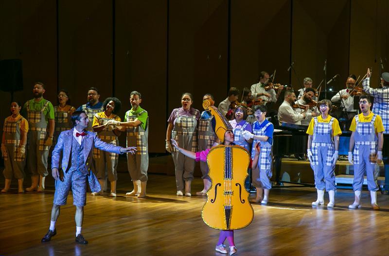"""Apresentação do espetáculo """"Villa-Lobos para Crianças – O concerto Mágico de Tuhú"""", no Teatro Positivo - Curitiba, 10/10/2019 - Foto: Daniel Castellano / SMCS"""