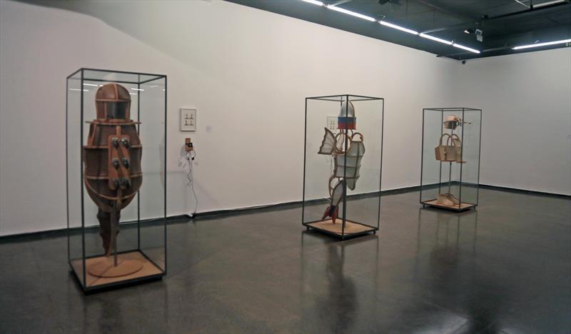 Bienal no MUMA Nômades e Fronteiriços na sala Célia Lazzarotto. Foto de Cido Marques