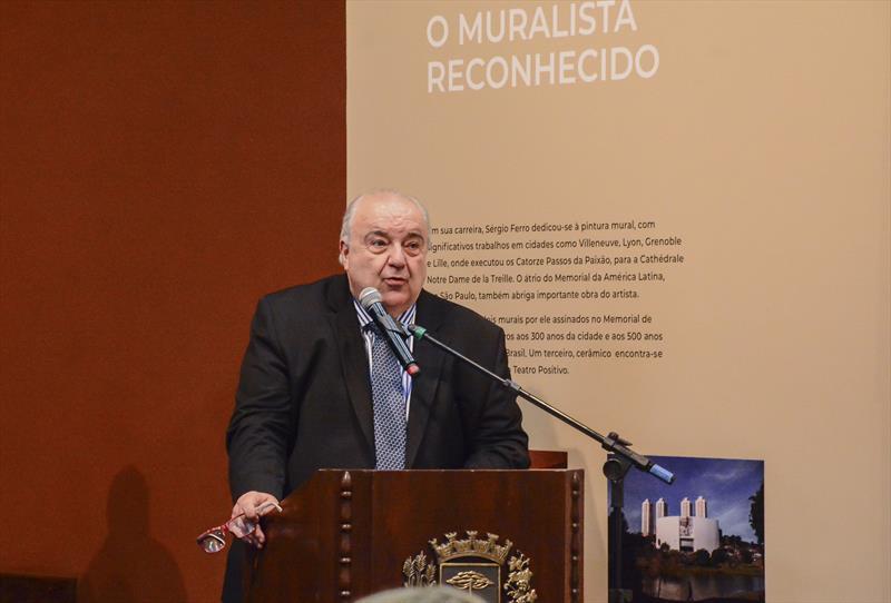 Prefeito Rafael Greca na cerimônia encerramento da 4ª Reunião de Ministros da Cultura do GRUPO BRICS no Memorial de Curitiba. Curitiba, 11/10/2019. Foto: Levy Ferreira/SMCS