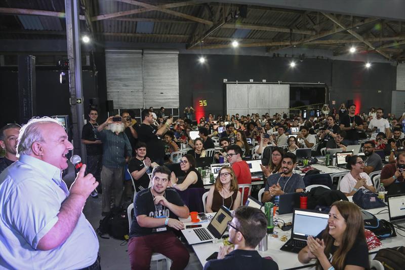 O prefeito Rafael Greca vai ao evento Nasa Space Apps Challenge Curitiba 2019. Curitiba, 18/10/2019. Foto: Luiz Costa /SMCS.