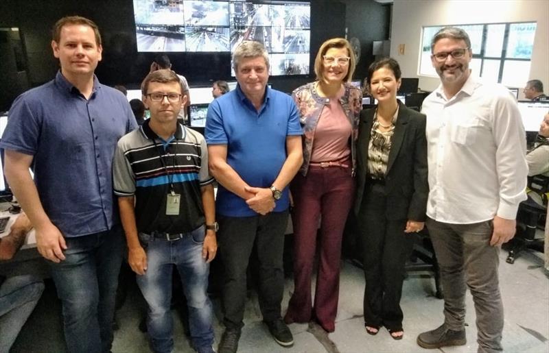 Prefeita de Sorocaba conhece sistema de semáforos inteligentes de Curitiba. Curitiba, 01/11/2019. Foto: Divulgação