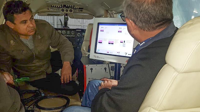 Aeronave utilizada para levantamento fotográfico. Foto: Consórcio Curitibatech.
