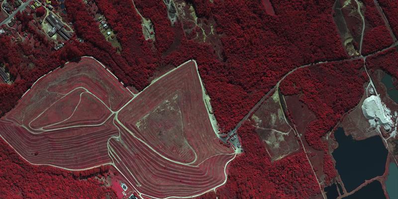 Imagem do Caximba em infravermelho. Foto: Consórcio Curitibatech.
