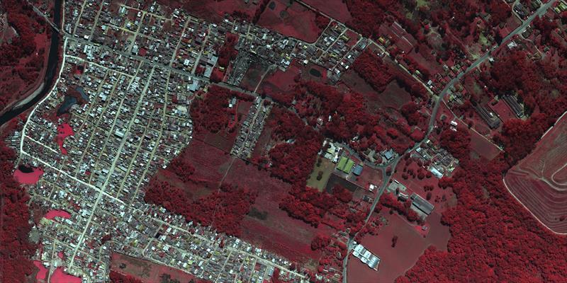 Imagem da Vila 29 de Outubro em infravermelho. Foto: Consórcio Curitibatech.