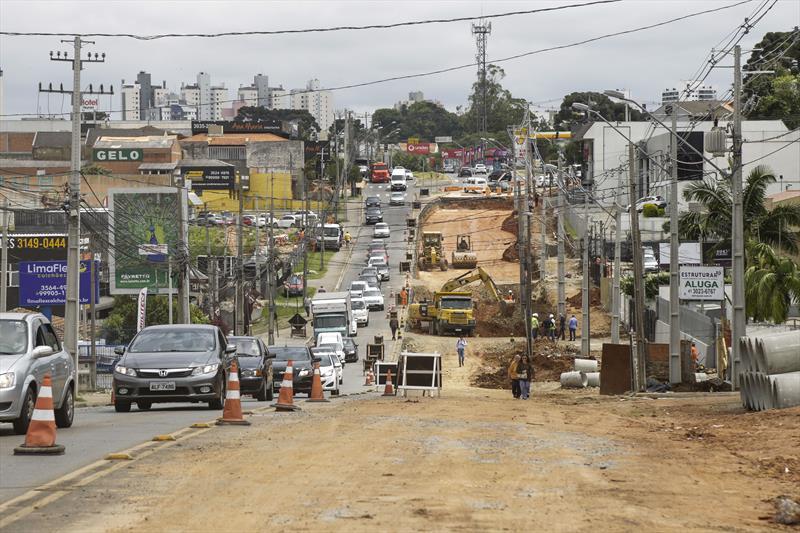 Obras da trincheira da Rua General Mário Tourinho. Curitiba, 08/11/2019. Foto: Pedro Ribas/SMCS