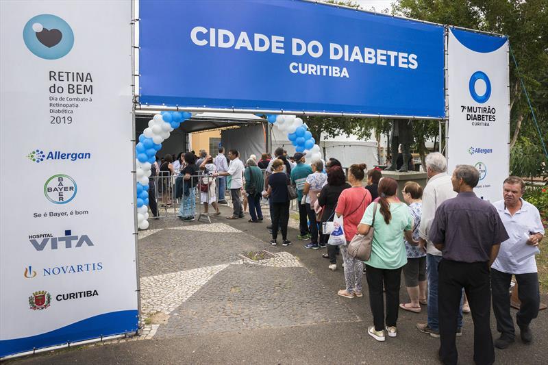 7º Mutirão Diabetes e Retina do Bem.  Curitiba, 09/11/2019. Foto: Valdecir Galor/SMCS.