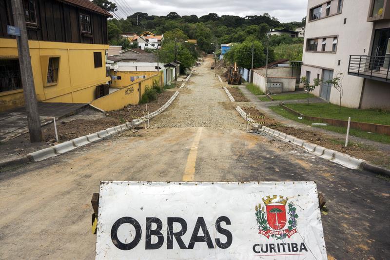 Pavimentação da Rua Francisco Boscardim, no Cascatinha. Curitiba, 13/11/2019 Foto: Valdecir Galor/SMCS.