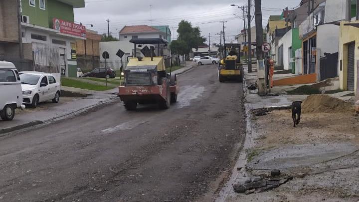 A Rua Antônio Augusto de Brito, no Umbará, vai ganhar revitalização do pavimento. Foto: Divulgação