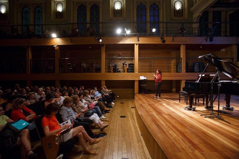Concerto didático na Capela Santa Maria.  - Foto  Unicultura