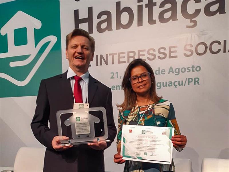 A Cohab Curitiba recebeu o prêmio Selo de Mérito, premiação nacional organizado pela Associação Brasileira de Cohabs e Agentes Públicos de Habitação que reconhece as melhores práticas de gestão pública voltadas à habitação popular. Foto: Divulgação
