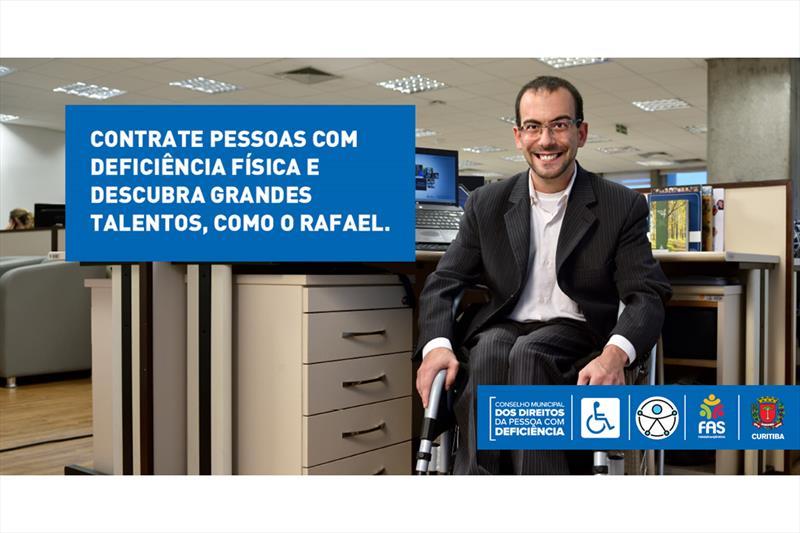 Campanha sensibiliza empresas a contratar pessoas com deficiência.  - Na imagem, Rafael Bonfim, analista de Desenvolvimento Organizacional do Grupo Marista. Foto: Divulgação