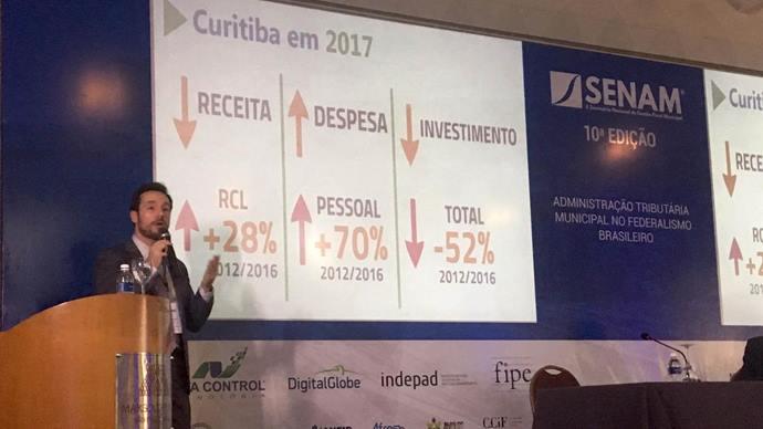 O secretário de Finanças, Vitor Puppi, apresentou os principais pontos do plano de recuperação, considerado exemplo no País. Foto: Divulgação