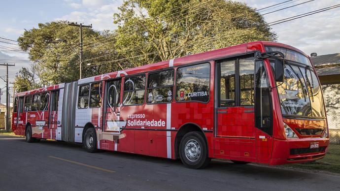 O Expresso Solidariedade, ônibus criado pela Prefeitura para que pessoas em situação de rua possam se alimentar em condições dignas. Foto:pedro Ribas/SMCS