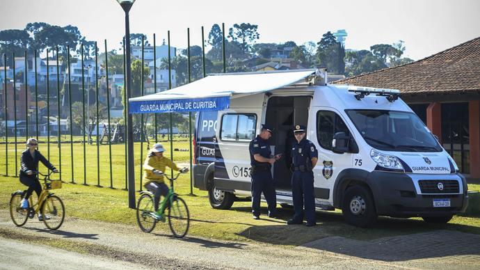 Novos guardas municipais no parque Barigui. Curitiba, 12/07/2019. Foto: Luiz Costa /SMCS.