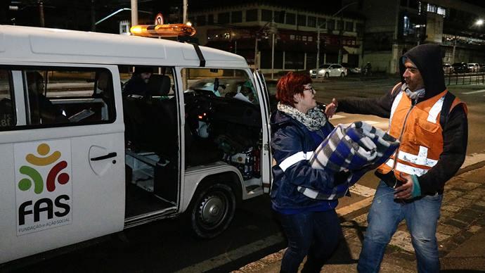 Abrigos recebem o maior número de pessoas desde a chegada do frio. Curitiba,05/06/2019. Foto: Ricardo Marajó/FAS