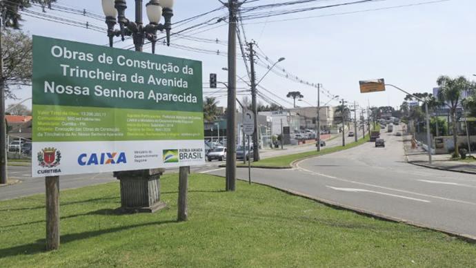 Obra da trincheira da Mário Tourinho bloqueia trânsito na Nossa Senhora Aparecida. Foto: Divulgação