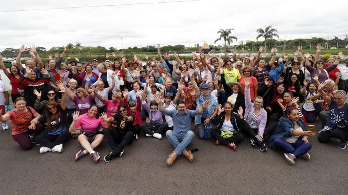 150 pessoas participam do Passos da História no Parque Náutico. Curitiba, 08/11/2019. Foto Lucilia Guimarães/SMCS