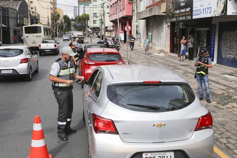 Fiscalizações da Setran inibem irregularidades no trânsito. Foto:Cesar Brustolin/SMCS