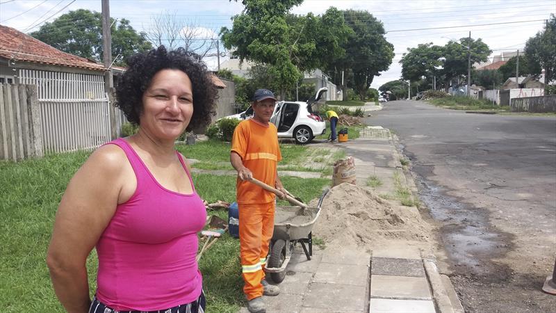 Zeladoria faz manutenção em 62 pontos da regional em 15 dias.  - Na imagem, a enfermeira aposentada Jovanete Martins Correa, 51 anos. Foto: Divulgação