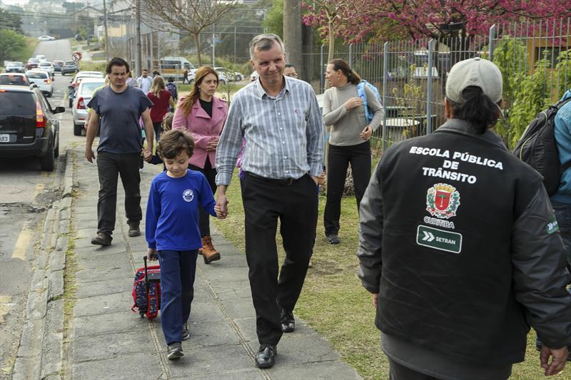 Setran orienta motoristas e estudantes para volta às aulas. Foto: Luiz Costa /SMCS