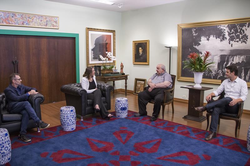 Prefeito Rafael Greca recebe junto com o vice-prefeito Eduardo Pimentel, a presidente do LIDE Paraná, Heloisa Garret. Curitiba, 05/02/2020. Foto: Pedro Ribas/SMCS