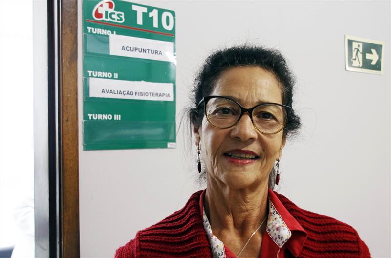 Beneficiários do ICS contam com serviço de acupuntura no Centro de Saúde do Rebouças, sem custo adicional.  - Na imagem, Iria de Jesus Pereira. Curitiba, 12/02/2020. Foto: Lucilia Guimarães/SMCS