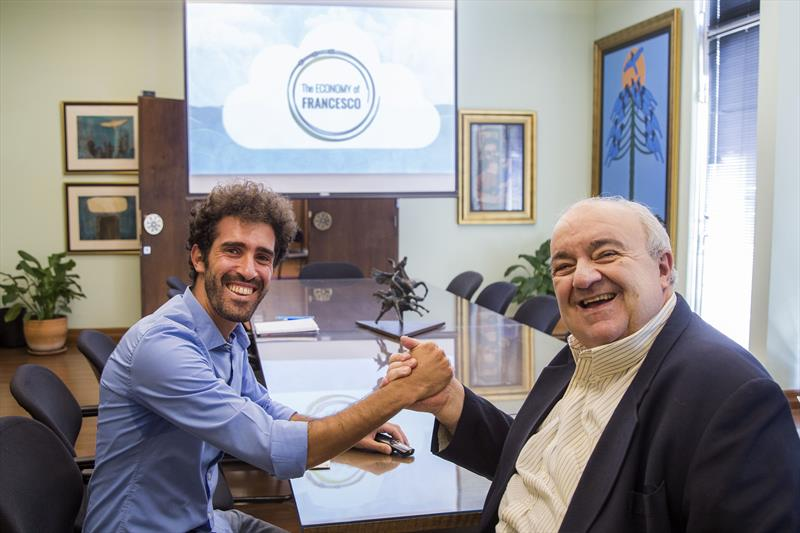 Prefeito Rafael Greca recebe Daniel Isfer Zardo. Curitiba, 12/02/2020. Foto: Pedro Ribas/SMCS