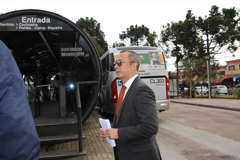 Especialistas do BID visitam parte do itinerário do Inter 2, em especial a estação Santa Quitéria, na Avenida Arthur Bernardes, que será transformada num terminal de integração. Foto: Divulgação/IPPUC